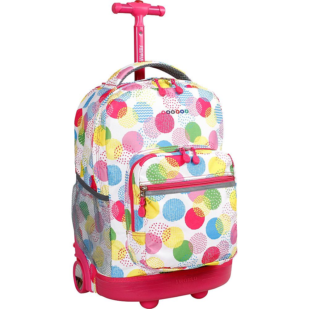 J World New York Sunrise Rolling Backpack - 18 Speckle - J World New York Wheeled Backpacks - Backpacks, Wheeled Backpacks