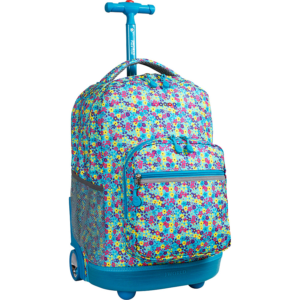 J World New York Sunrise Rolling Backpack - 18 Floret - J World New York Rolling Backpacks - Backpacks, Rolling Backpacks