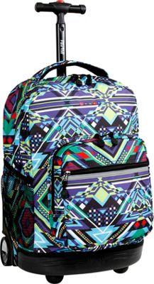 J World New York Sunrise Rolling Backpack - FREE SHIPPING - eBags.com