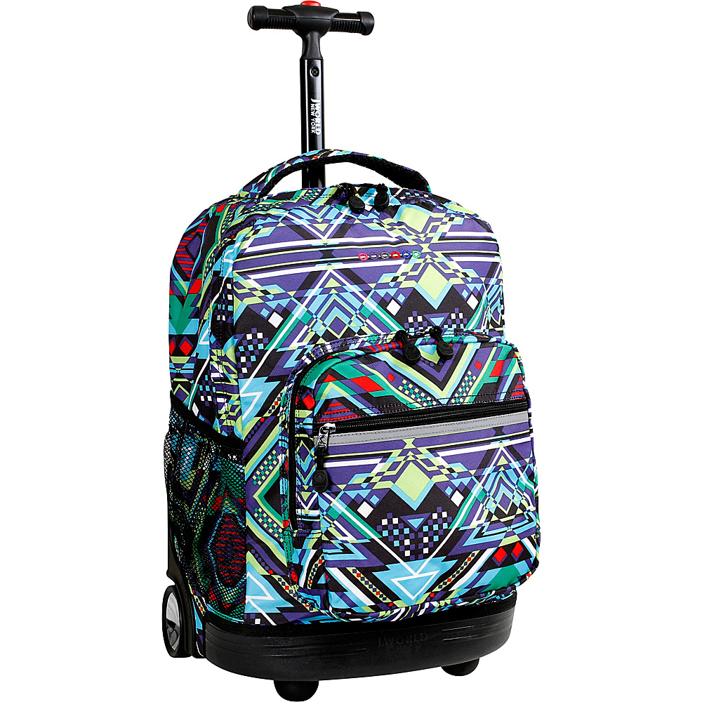 J World New York Sunrise Rolling Backpack - 18 Zega - J World New York Rolling Backpacks - Backpacks, Rolling Backpacks