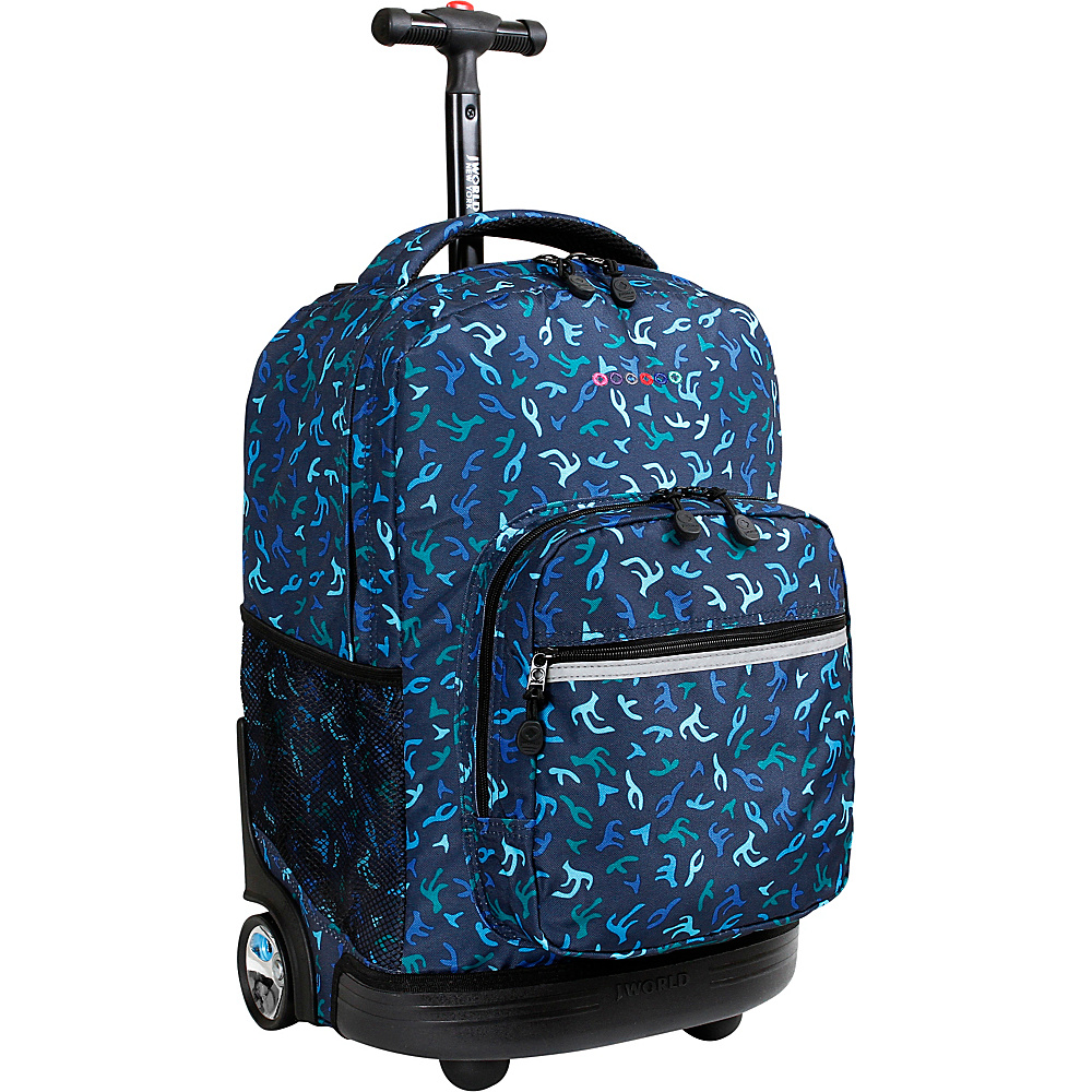 J World New York Sunrise Rolling Backpack - 18 Reef - J World New York Rolling Backpacks - Backpacks, Rolling Backpacks