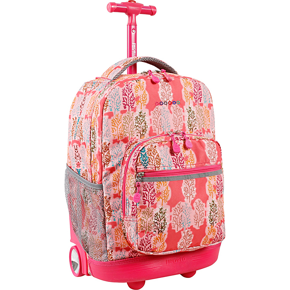 J World New York Sunrise Rolling Backpack - 18 Pink Forest - J World New York Rolling Backpacks - Backpacks, Rolling Backpacks