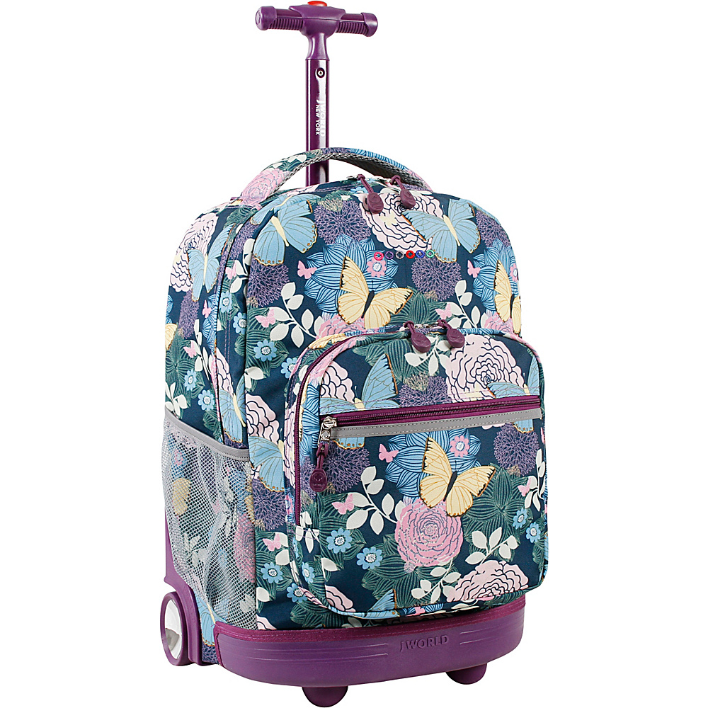 J World New York Sunrise Rolling Backpack - 18 Secret Garden - J World New York Rolling Backpacks - Backpacks, Rolling Backpacks