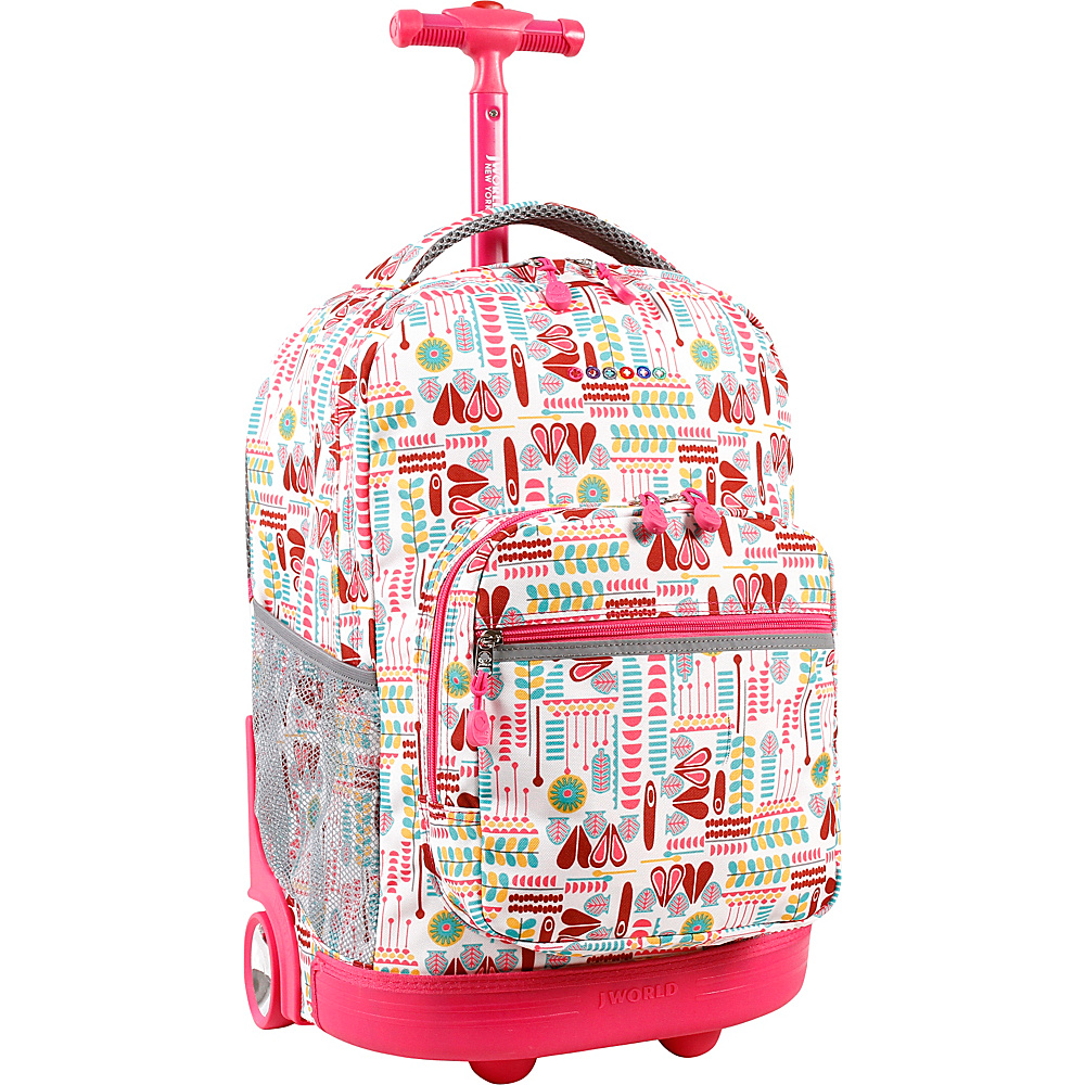 J World New York Sunrise Rolling Backpack - 18 Heart Factory - J World New York Rolling Backpacks - Backpacks, Rolling Backpacks