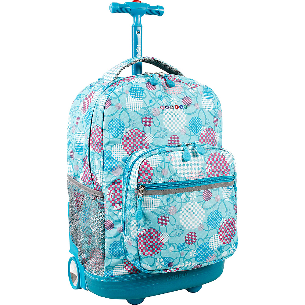 J World New York Sunrise Rolling Backpack - 18 Dandelion - J World New York Wheeled Backpacks - Backpacks, Wheeled Backpacks