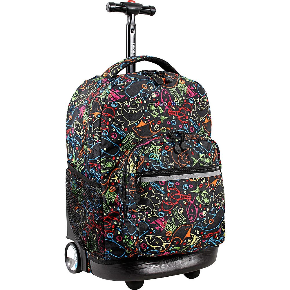 J World New York Sunrise Rolling Backpack - 18 Doodle - J World New York Rolling Backpacks - Backpacks, Rolling Backpacks