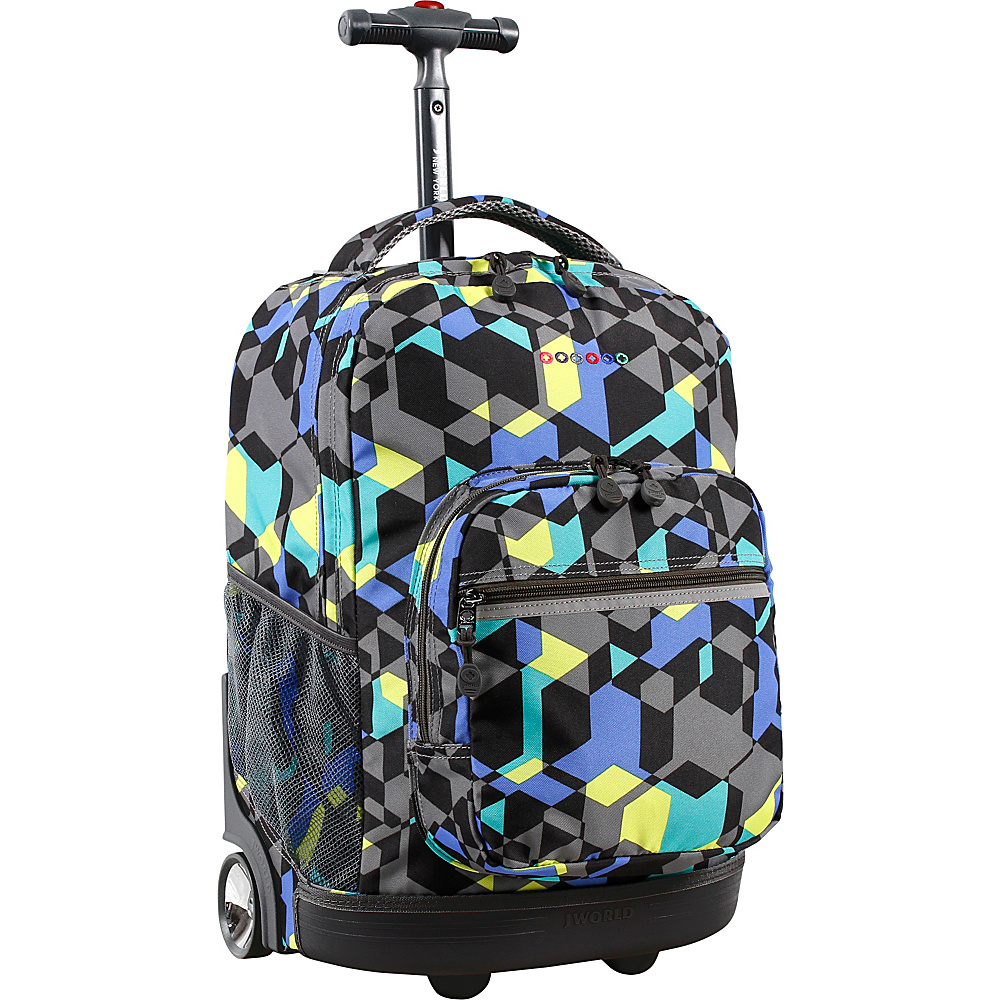 J World New York Sunrise Rolling Backpack - 18 Cubes - J World New York Rolling Backpacks - Backpacks, Rolling Backpacks