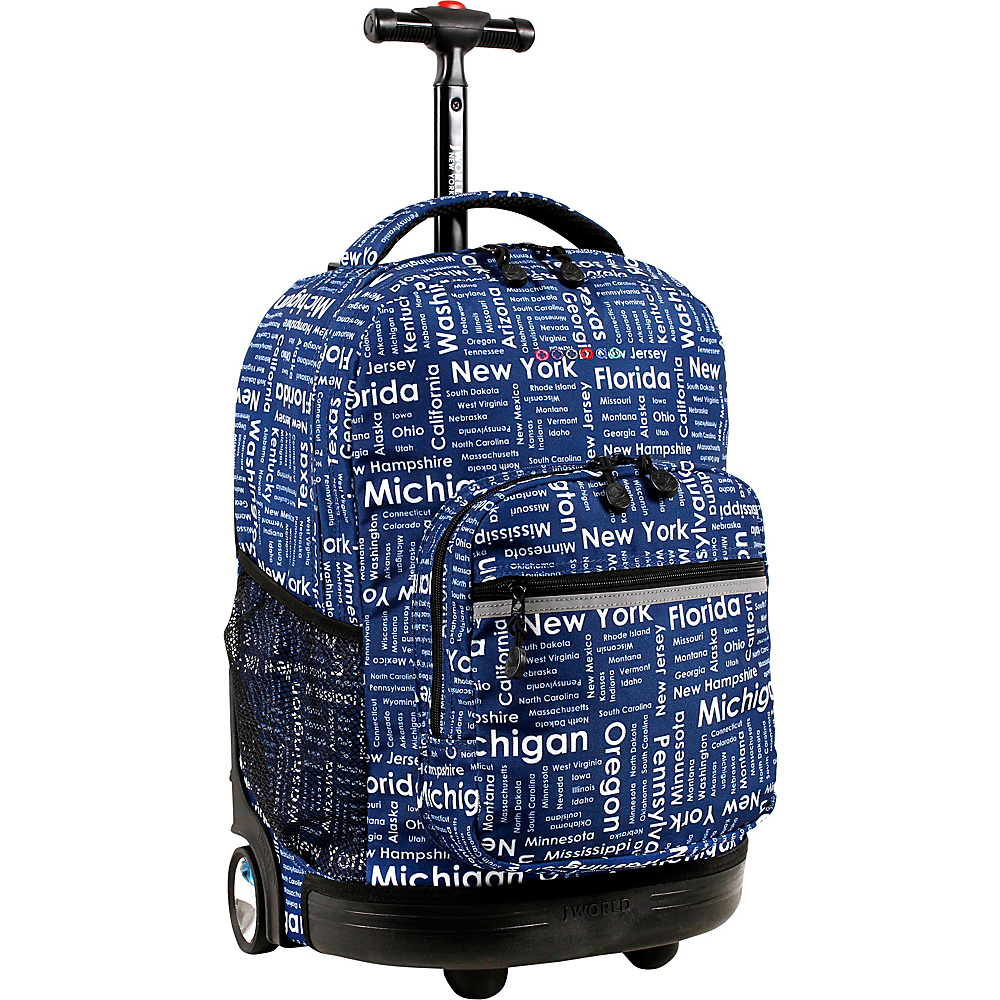J World New York Sunrise Rolling Backpack - 18 Road Trip - J World New York Rolling Backpacks - Backpacks, Rolling Backpacks
