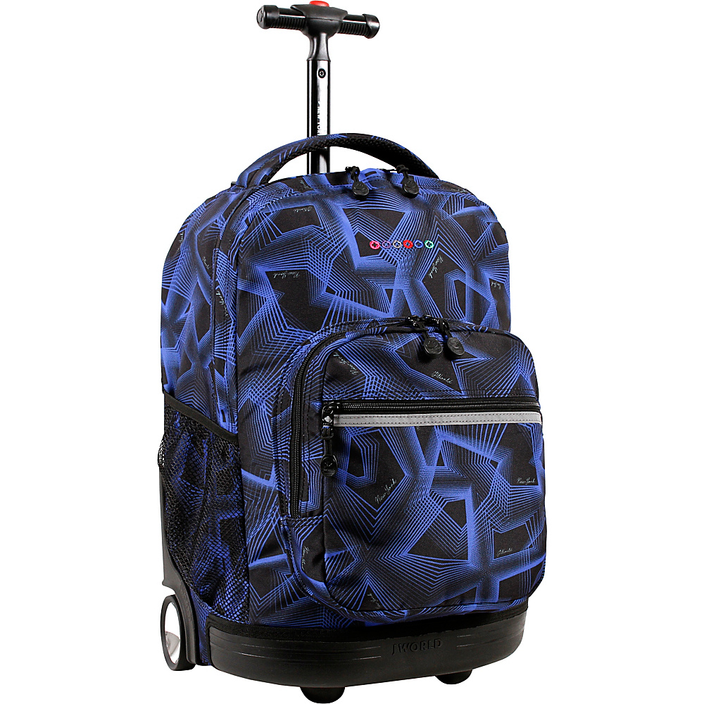 J World New York Sunrise Rolling Backpack - 18 Disco - J World New York Rolling Backpacks - Backpacks, Rolling Backpacks