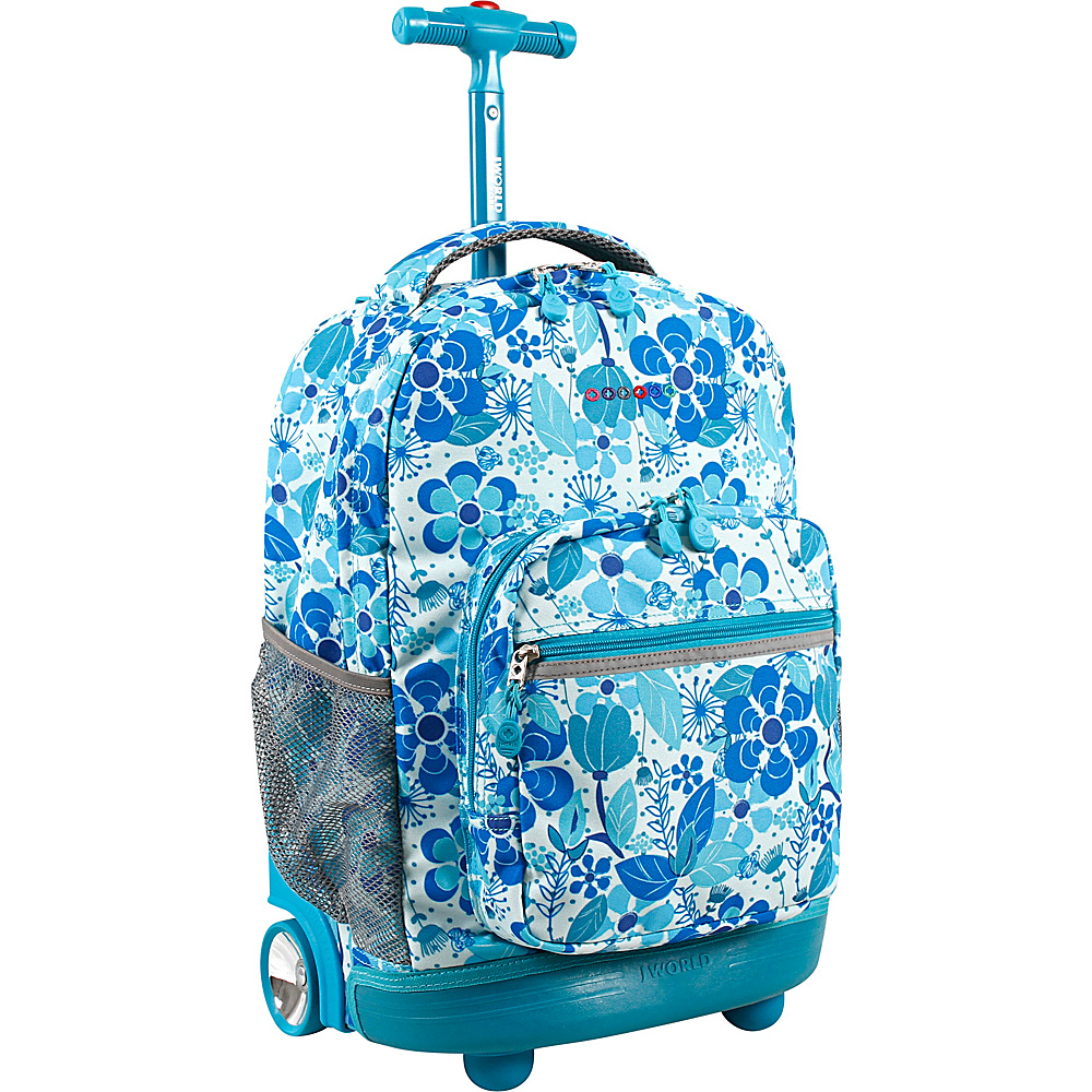 J World New York Sunrise Rolling Backpack - 18 Blue Vine - J World New York Rolling Backpacks - Backpacks, Rolling Backpacks