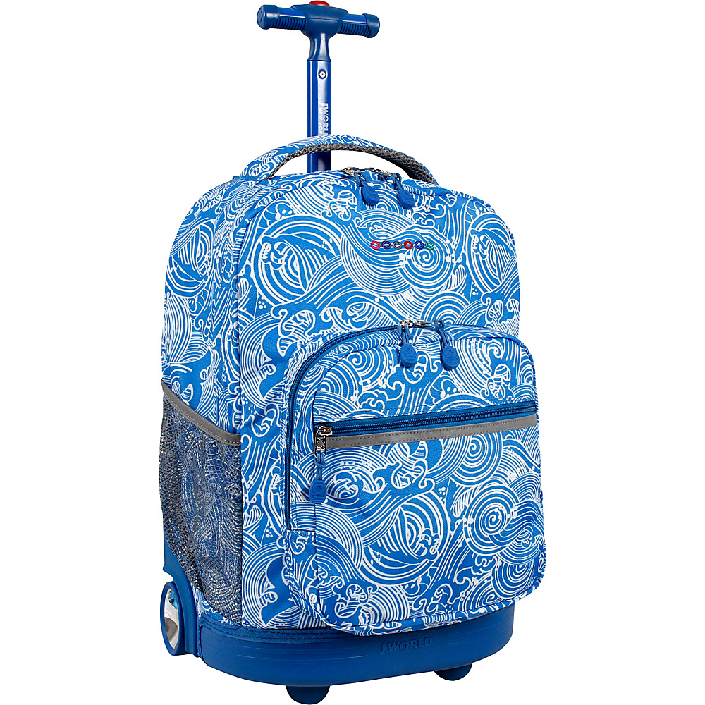 J World New York Sunrise Rolling Backpack - 18 Wave - J World New York Rolling Backpacks - Backpacks, Rolling Backpacks