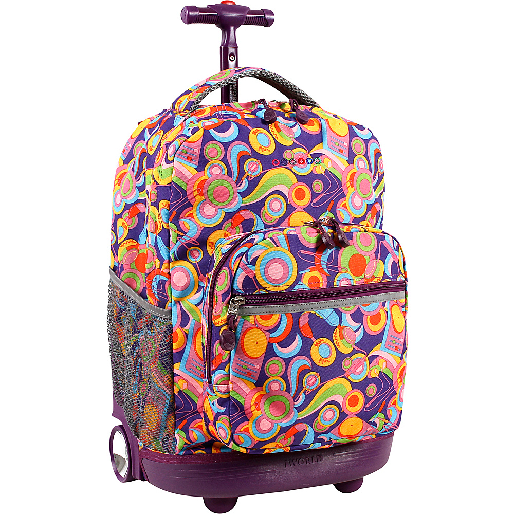 J World New York Sunrise Rolling Backpack - 18 Funky - J World New York Rolling Backpacks - Backpacks, Rolling Backpacks