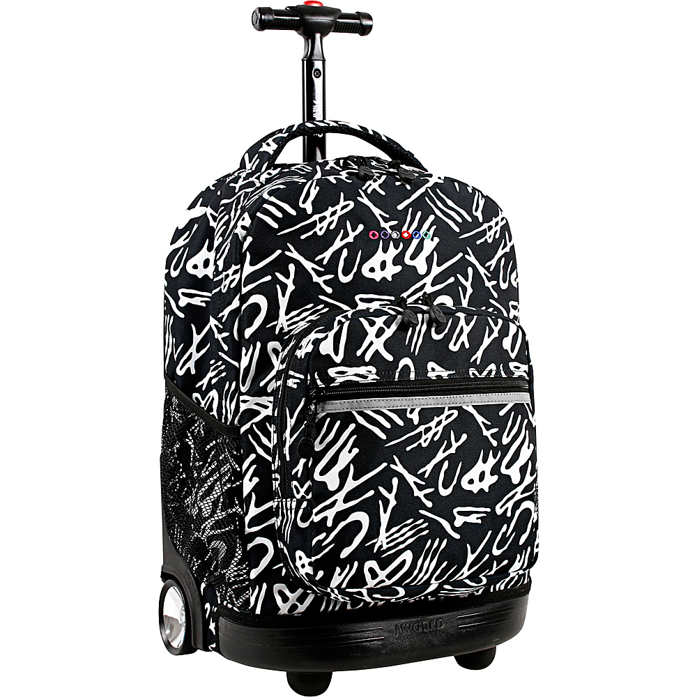 J World New York Sunrise Rolling Backpack - 18 Script - J World New York Rolling Backpacks - Backpacks, Rolling Backpacks