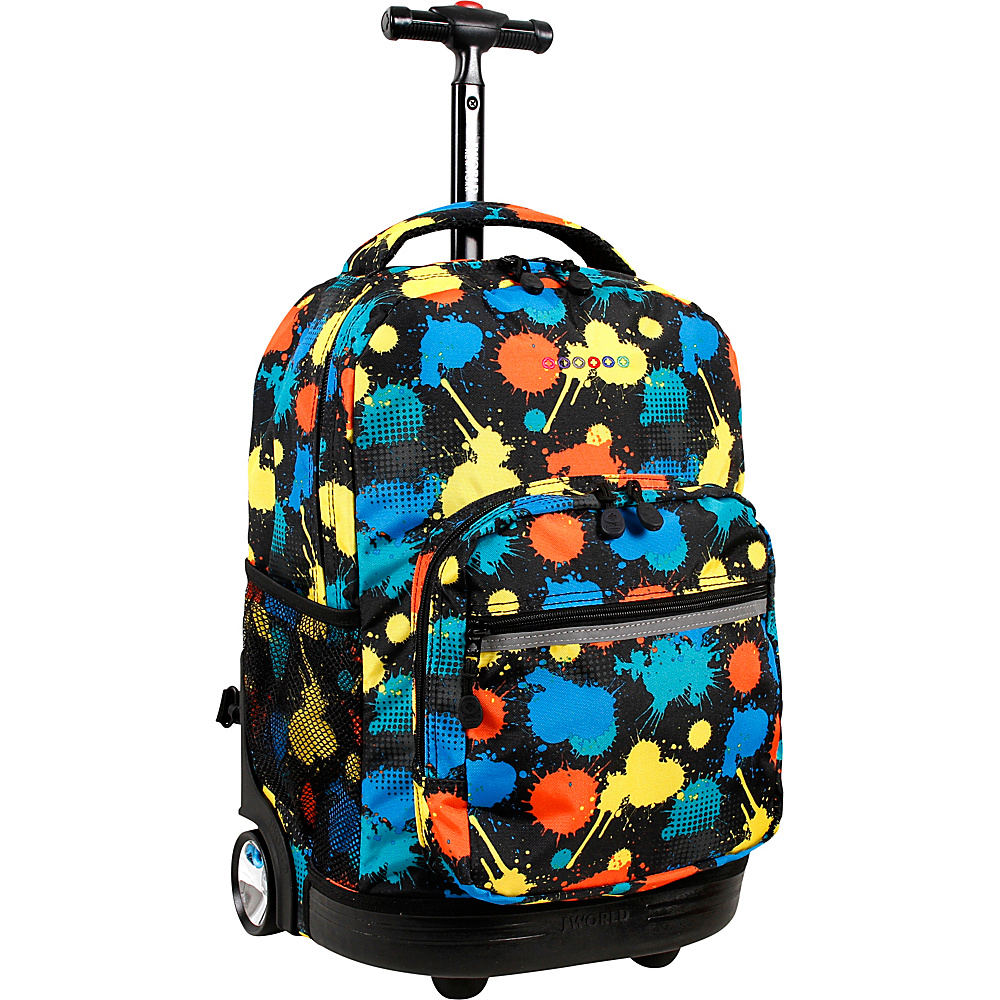 J World New York Sunrise Rolling Backpack - 18 Splatter - J World New York Rolling Backpacks - Backpacks, Rolling Backpacks