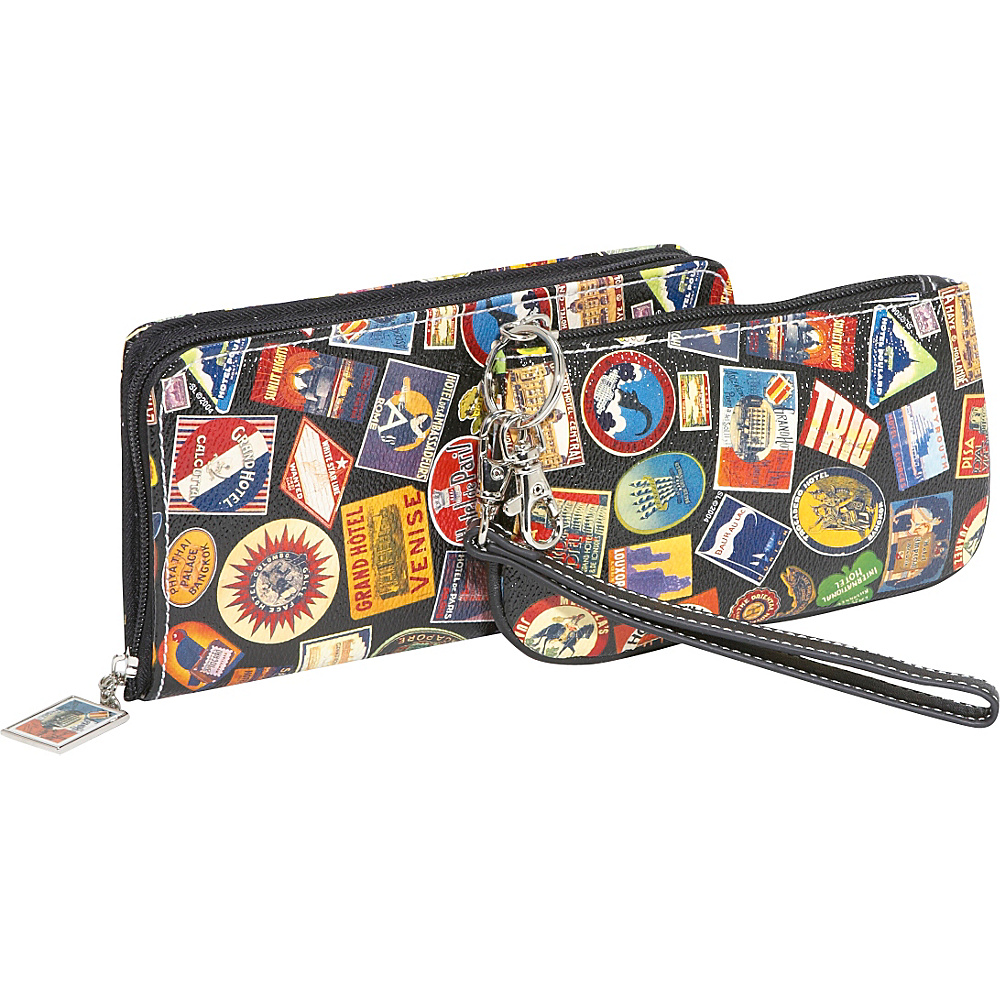 Sydney Love Vintage Hotel-Zip Around Travel Wallet and - Women's SLG, Women's Wallets