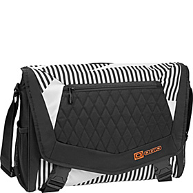 Vamp L Laptop Messenger White Stripes/Burst
