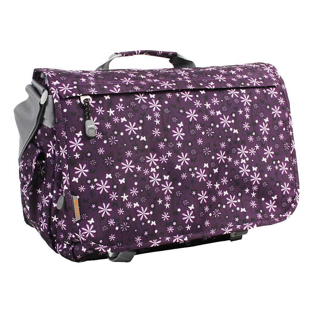 J World New York Thomas Laptop Messenger Garden Purple - J World New York Messenger Bags - Work Bags & Briefcases, Messenger Bags