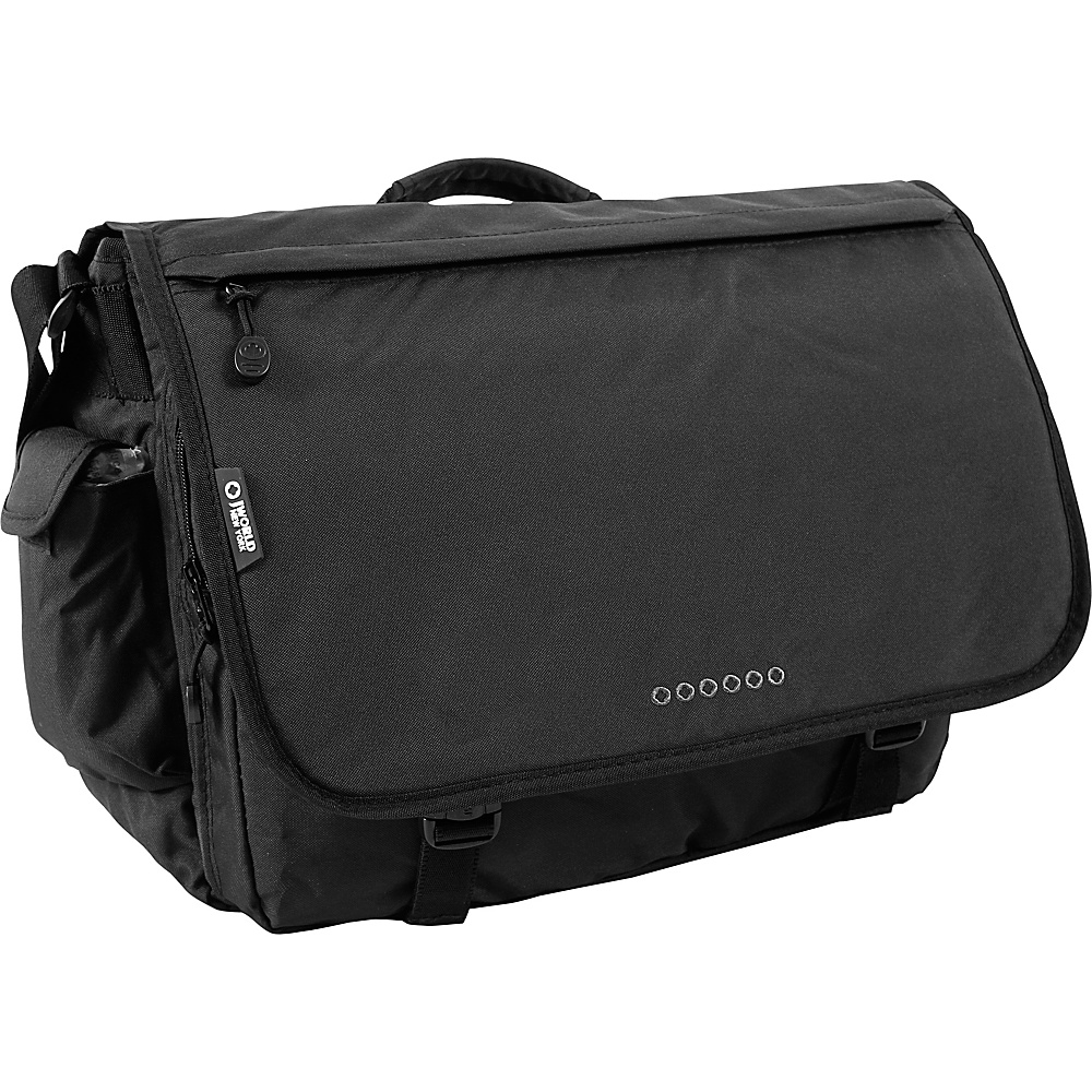 J World Thomas Laptop Messenger - Black - Work Bags & Briefcases, Messenger Bags