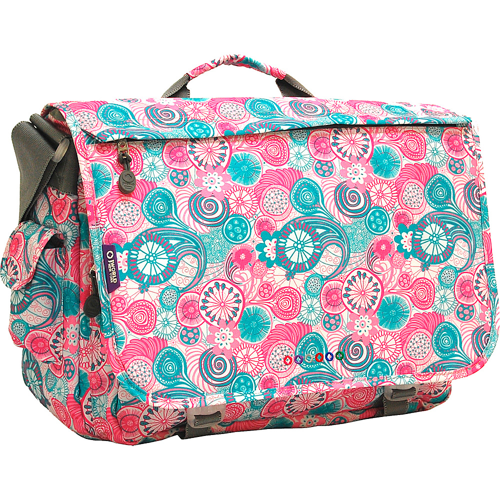 J World New York Thomas Laptop Messenger Blue Raspberry - J World New York Messenger Bags - Work Bags & Briefcases, Messenger Bags
