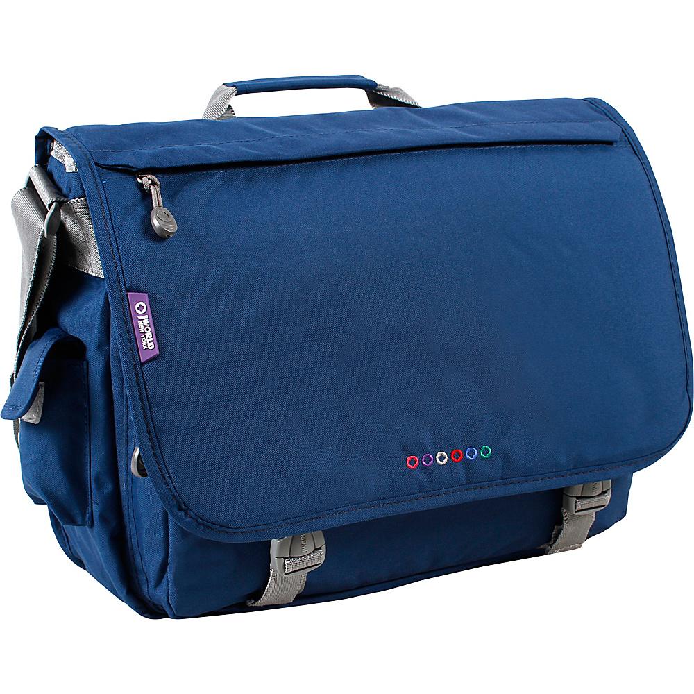 J World New York Thomas Laptop Messenger Navy - J World New York Messenger Bags - Work Bags & Briefcases, Messenger Bags
