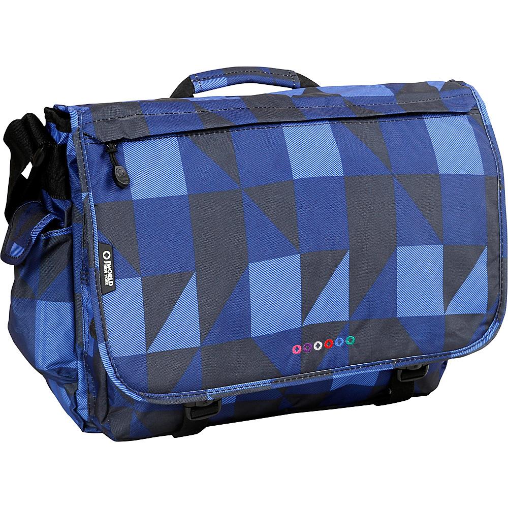 J World New York Thomas Laptop Messenger Block Navy - J World New York Messenger Bags - Work Bags & Briefcases, Messenger Bags