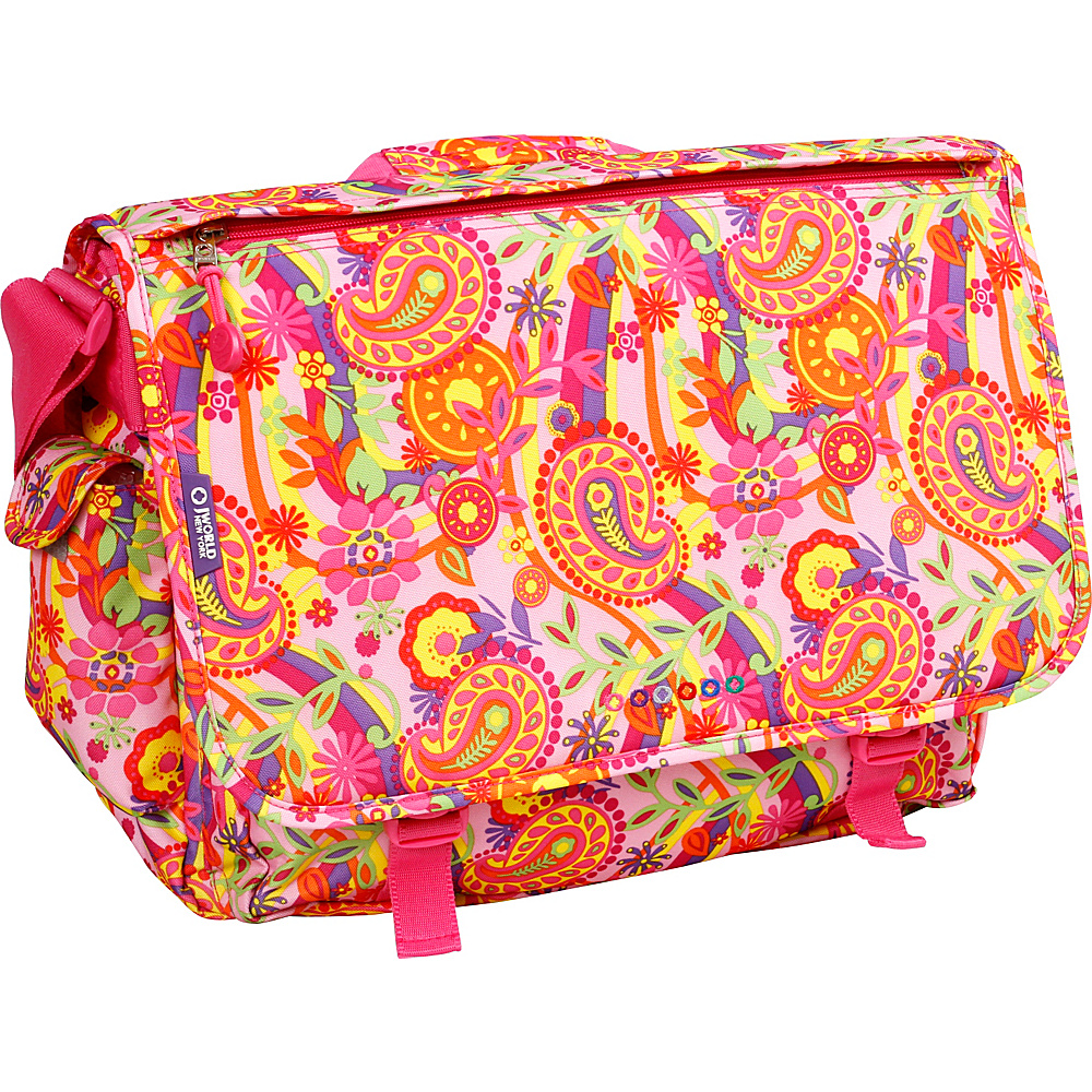 J World New York Thomas Laptop Messenger Pink Paisley - J World New York Messenger Bags - Work Bags & Briefcases, Messenger Bags