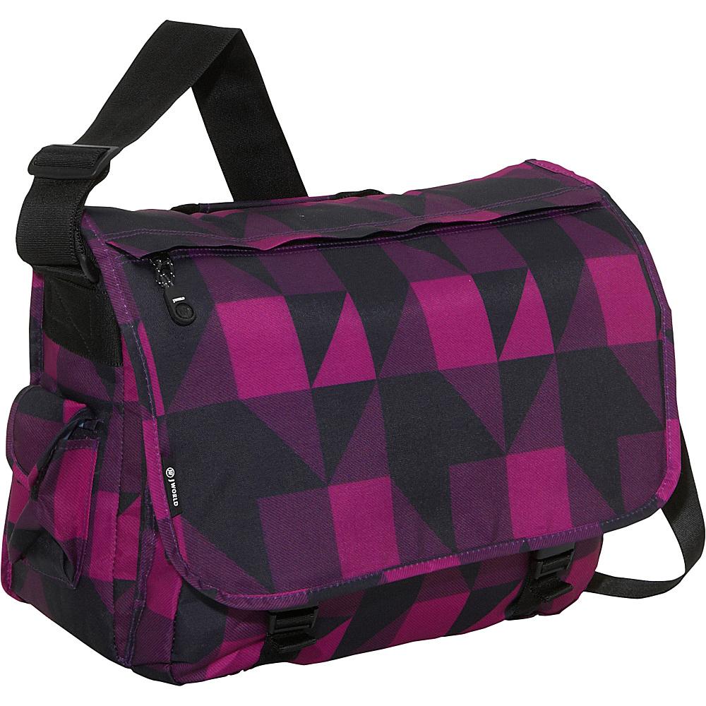 J World New York Thomas Laptop Messenger Block Pink - J World New York Messenger Bags - Work Bags & Briefcases, Messenger Bags