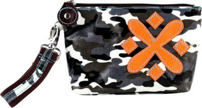 Urban Junket Flower Wristlet Medium Grey Camouflage - Urban Junket Fabric Handbags