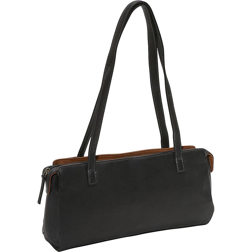 Derek Alexander EW top zip - BLACK/TAN - Handbags, Leather Handbags