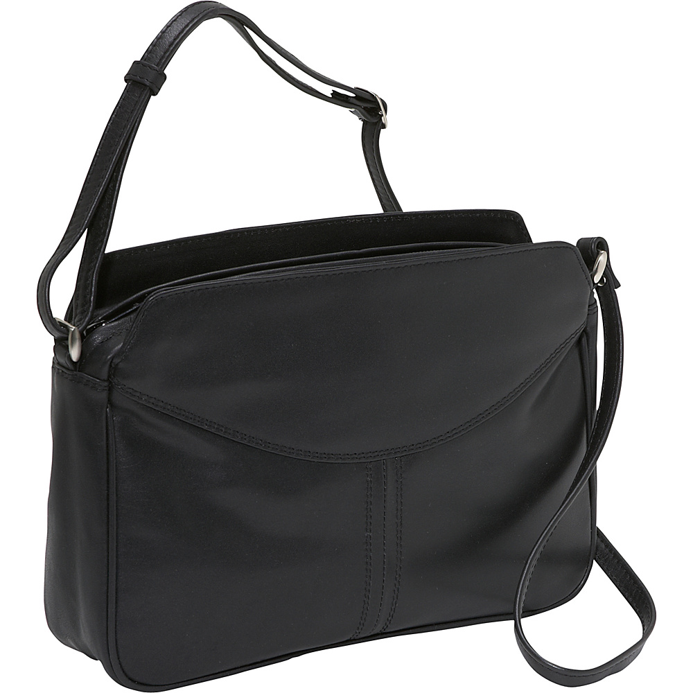 Derek Alexander EW 3 compartment top zip - Black - Handbags, Leather Handbags