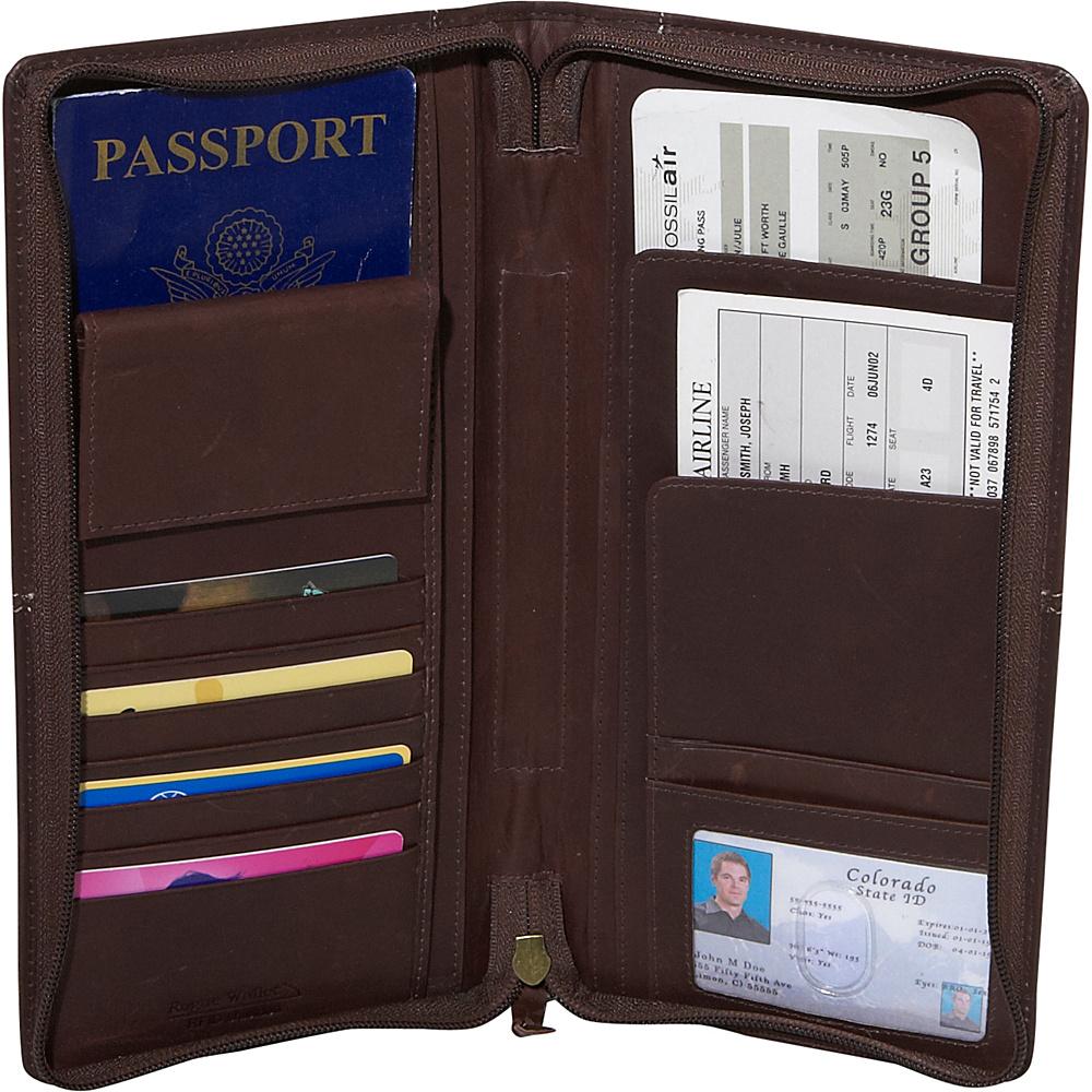 Rogue Wallets RFID Blocking Travel Organizer - Brown