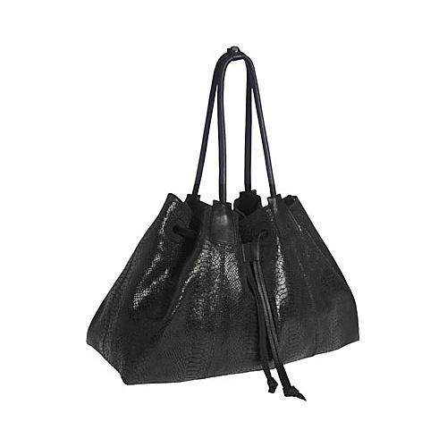 Alla Leather Art Empire Shoulder Bag Large - Black