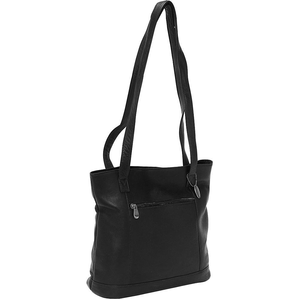 David King & Co. Shopper with Front Zip Pocket Black - David King & Co. Manmade Handbags - Handbags, Manmade Handbags