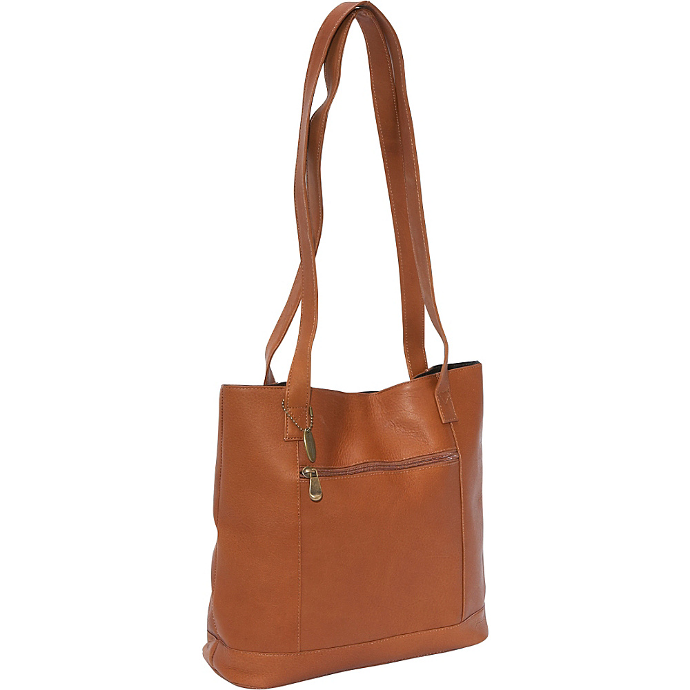David King & Co. Shopper with Front Zip Pocket Tan - David King & Co. Manmade Handbags - Handbags, Manmade Handbags
