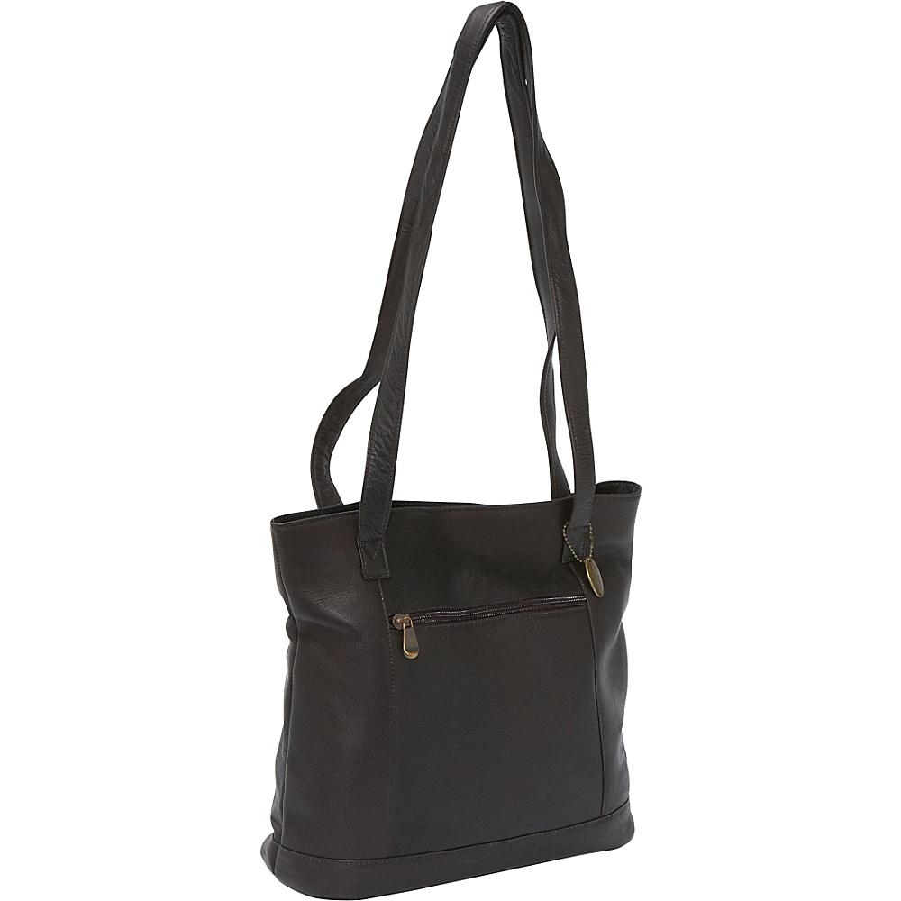 David King & Co. Shopper with Front Zip Pocket - Cafe - Handbags, Manmade Handbags