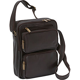 Multi Pocket iPad / eReader Day Bag Café