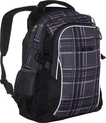 Hobie Hobie Arktos Laptop Backpack Black-Grey-Purple Plaid - Hobie Business & Laptop Backpacks