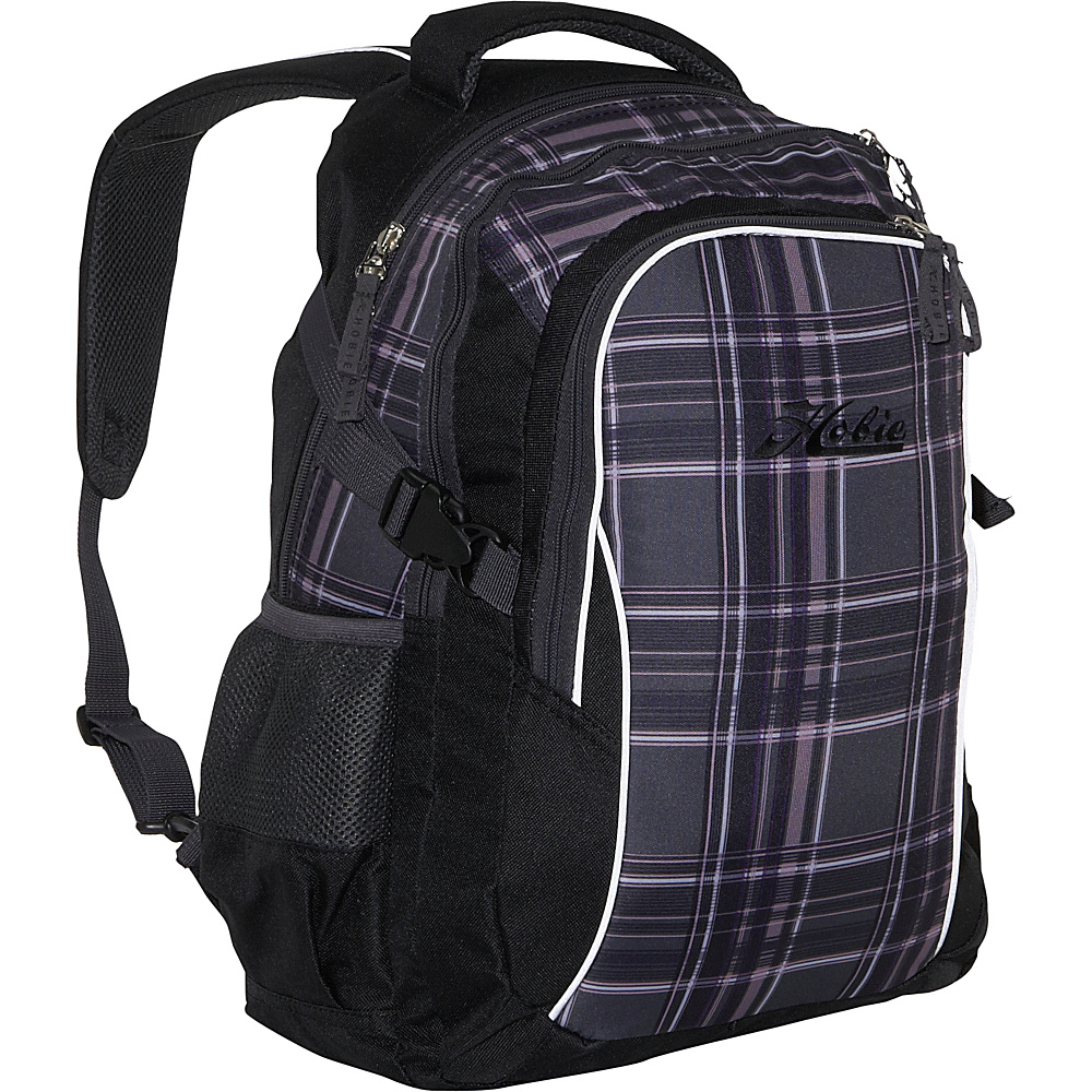 Hobie Hobie Arktos Laptop Backpack Black-Grey-Purple Plaid - Hobie Business & Laptop Backpacks - Backpacks, Business & Laptop Backpacks