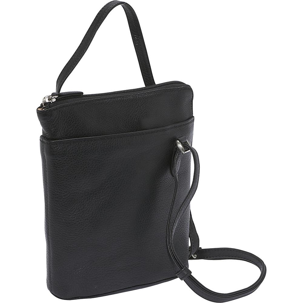 Derek Alexander NS Two Sided Zip - Black - Handbags, Leather Handbags