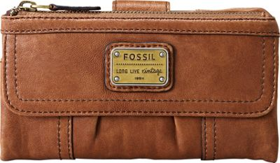 Fossil Emory Clutch - Saddle
