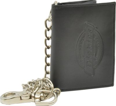Dickies Wallets Trifold Wallet w/ Chain Black - Dickies Wallets Men's Wallets