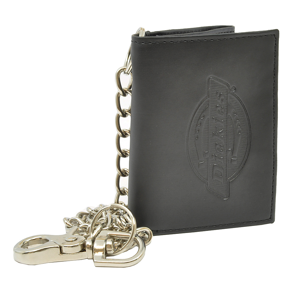 Dickies Wallets Trifold Wallet w/ Chain Black - Dickies Wallets Mens Wallets - Work Bags & Briefcases, Men's Wallets