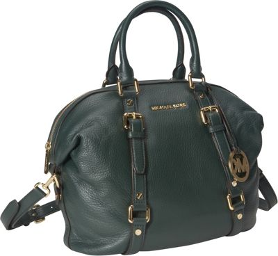 michael michael kors bedford medium satchel hunter green