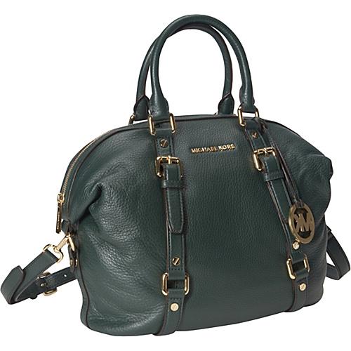475c4ee154c7 Michael Michael Kors Bedford Medium Satchel Hunter Green – Michael Michael  Kors Designer Handbags