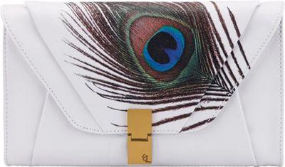 Elliott Lucca Cordoba Clutch White Peacock - Elliott Lucca Designer Handbags