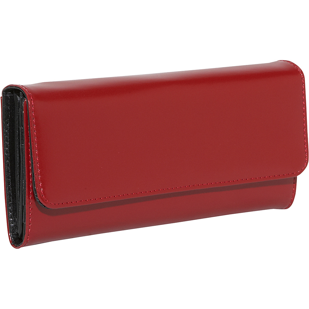 Jack Georges Milano Collection Clutch Wallet Red - Jack Georges Ladies Clutch Wallets