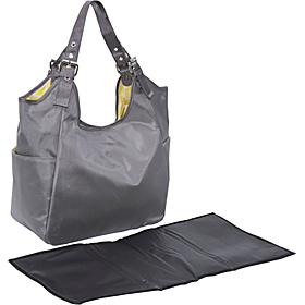 Slate Citron Diaper Bag Satchel Grey