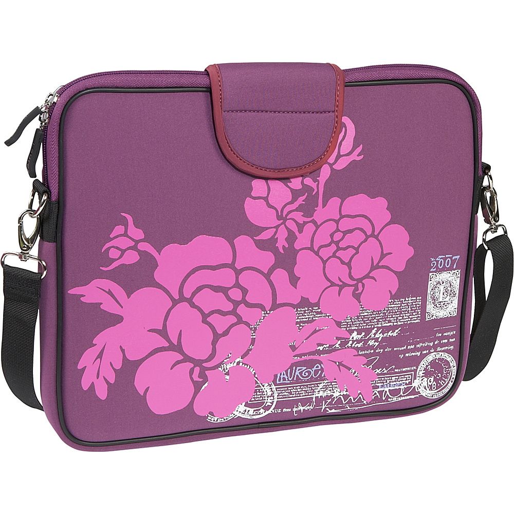 Laurex 13.3 Laptop Sleeve Purple Hibiscus