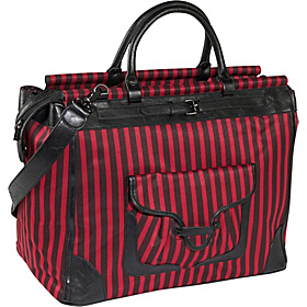 Stripe Getaway Bag Red & Black Stripe