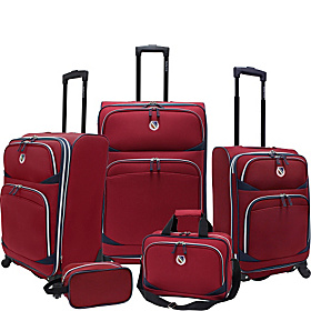 San Vincente 5 Piece Spinner Luggage Set Ruby Red - EXCLUSIVE COLOR